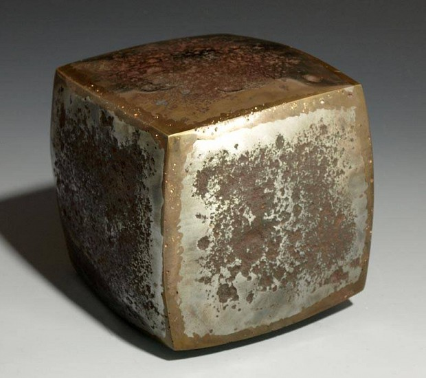 Hazen Audel, Cube 1 2007, steel and bronze