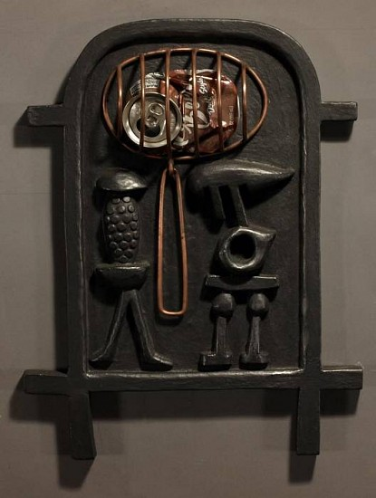 Harold Balazs, A Soda Can Enters the Cartouche Vocabulary 2007, wood & metal