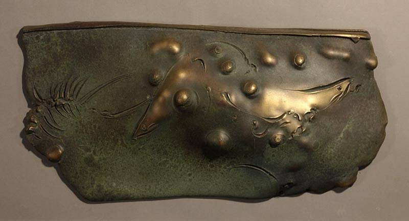 Frank Boyden, Fish Shield one of a kind bronze casting