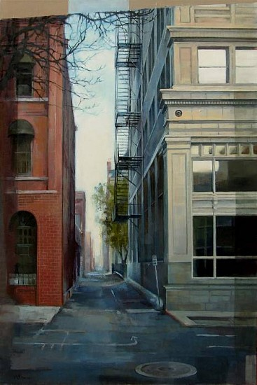 Victoria Brace, One Way Alley 2010, oil on canvas