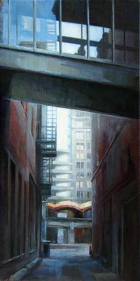 Victoria Brace, Downtown Alley 2010, oil on canvas