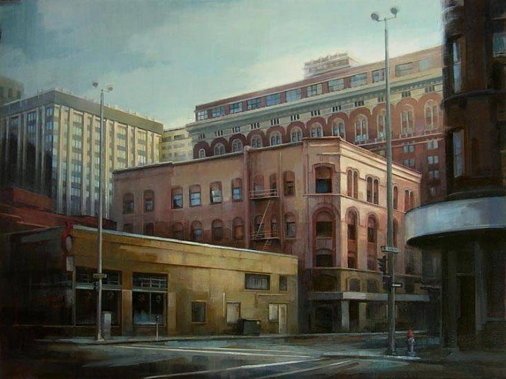 Victoria Brace, Riverside & Lincoln 2010, oil on canvas