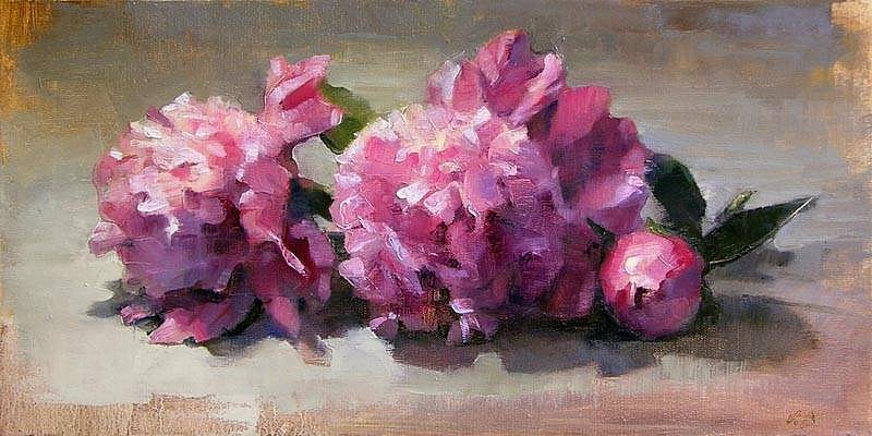 Victoria Brace, Flowers for Ray 2012, oil on linen panel