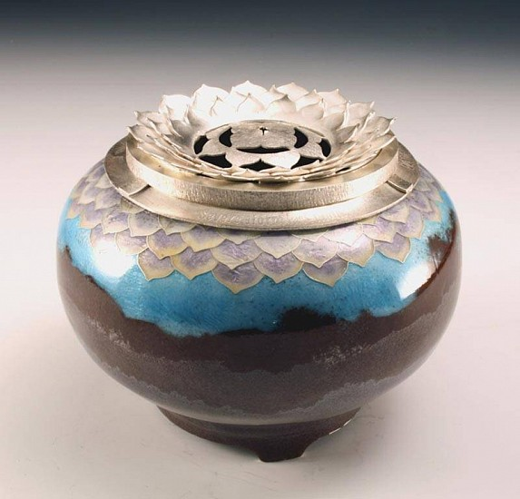 Harlan Butt, Lotus Incense Burner 2010, copper, enamel, silver