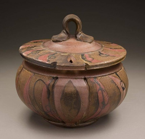 Josh DeWeese, Covered Jar 2008, salt & soda fired stoneware