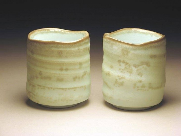 Dong Wan Kim, Transluscent Pair of Cups #1 2007, white stoneware