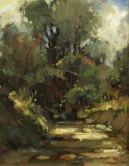 Don Ealy, Sunlight on the Path oil