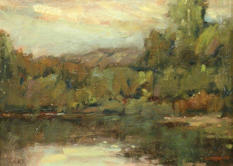 Don Ealy, Landscape II oil on panel
