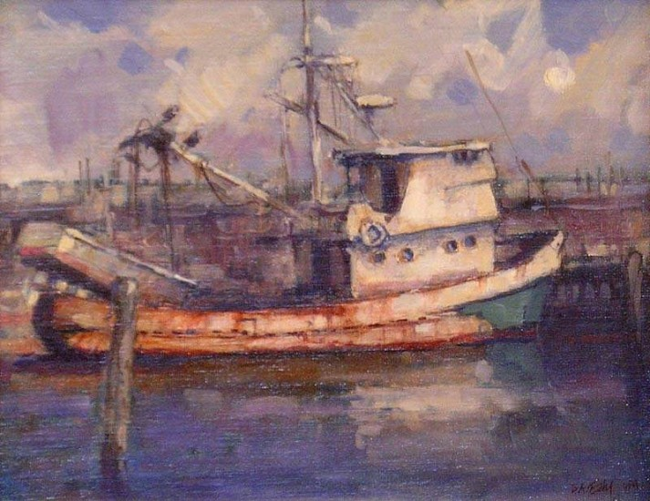 Don Ealy, Seattle Boat 2007, oil on canvas panel