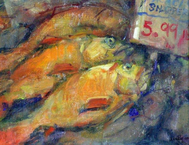 Don Ealy, Pacific Snapper 2007, oil on canvas panel