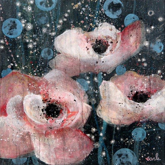 Catherine Earle, Midnight Poppies 2013, acrylic on canvas