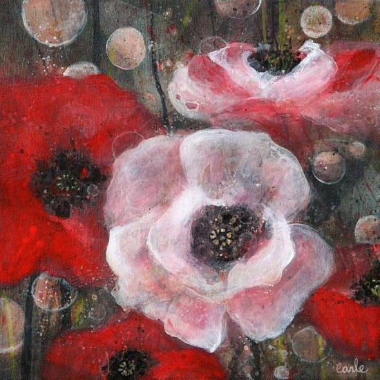Catherine Earle, Poppies Poetry 2013, acrylic on canvas