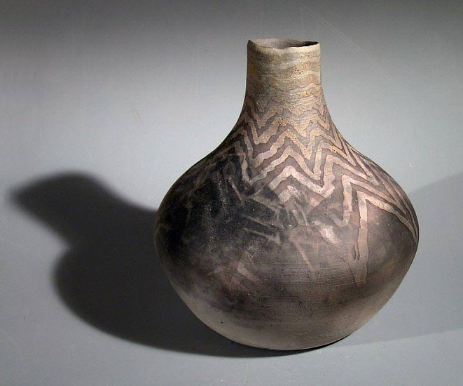 Terry Gieber, Southwest Series:  Mesa 2006, sagger fired, with slip, resisits
