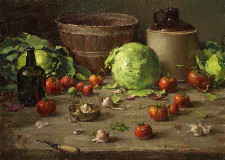 Del Gish, Cabbage Soup and Cookies oil on canvas