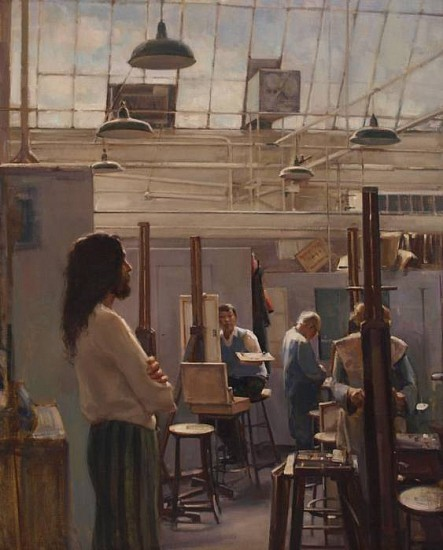 Del Gish, Dinnerstein's Studio oil on linen