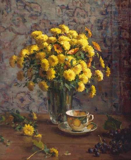 Del Gish, Yellow Bouquet oil on panel