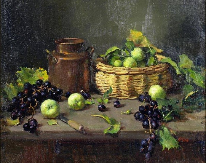 Del Gish, Green Apples oil on linen