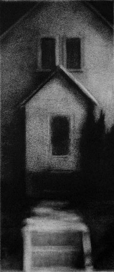 Elaine Green, House 3 2006, charcoal
