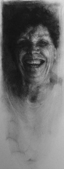 Elaine Green, Juney 2008, charcoal on paper