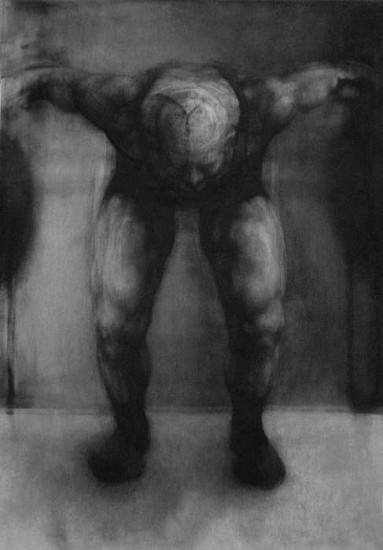Elaine Green, Lifter #2 2010, charcoal on paper