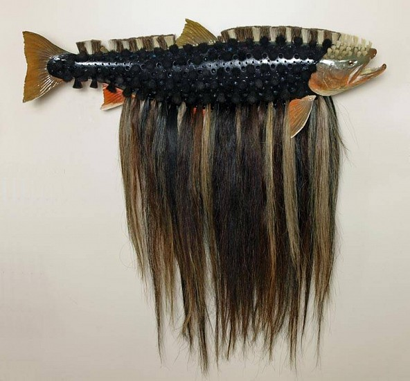 Glenn Grishkoff, Brush Salmon 2009, mixed media