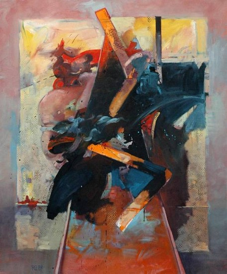 Robert Grimes, Composition with Triangle 1989, oil on canvas