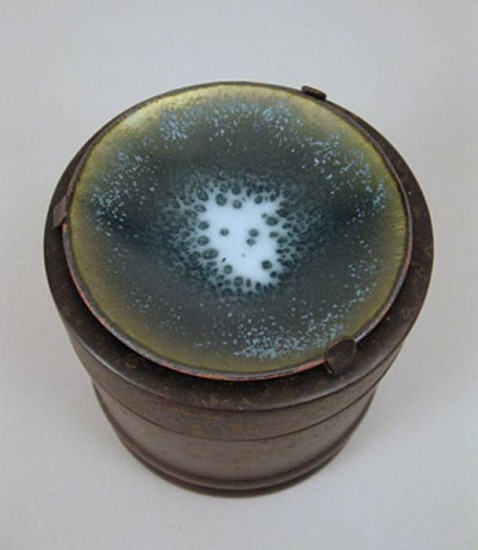 Lynne Hull, Large Container enamel on copper