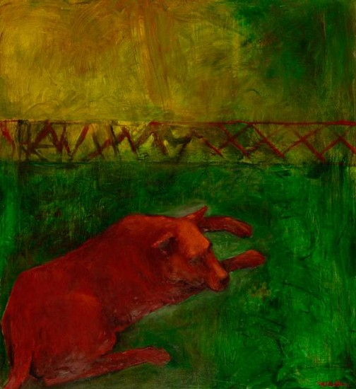 Mel McCuddin, Red Dog Resting 2012, oil on canvas