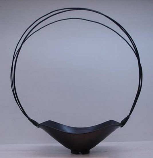 Paddy McNeely, Oval Basket 2009, porcelain w/willow handle