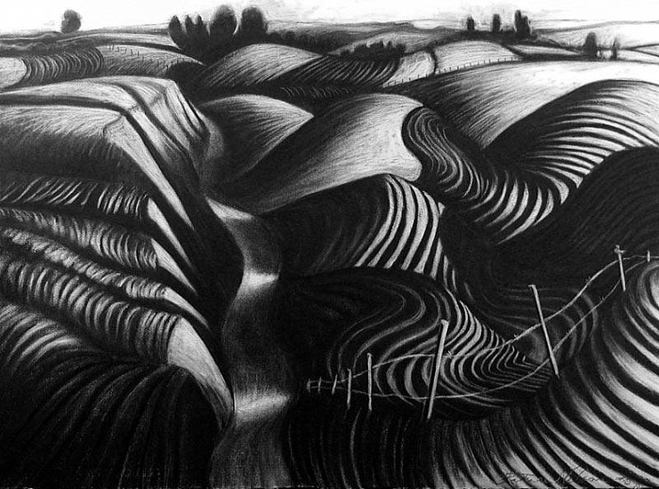 Katherine Nelson, Bruce Road at Dusk 2005, charcoal