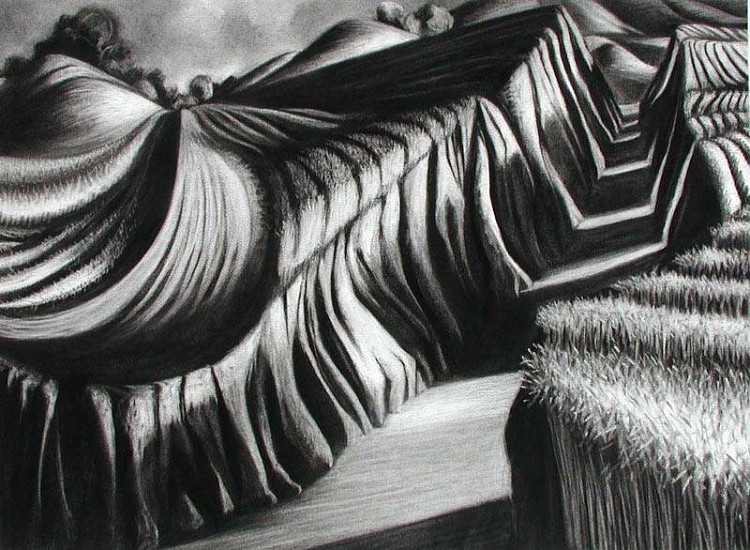 Katherine Nelson, End of the Road 2005, charcoal on paper