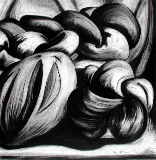 Katherine Nelson, Loaves 2005, charcoal on paper