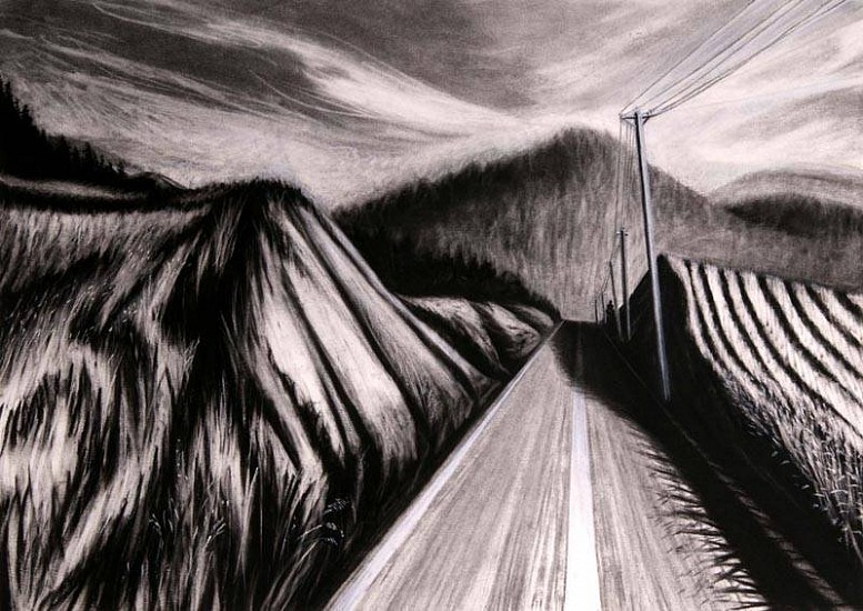 Katherine Nelson, Road to Hope 2007, charcoal & pastel