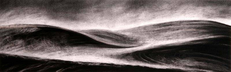 Katherine Nelson, Misty Morning Earth 2007, charcoal & conte'