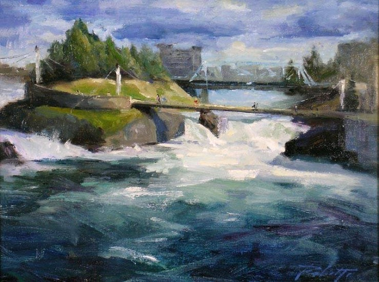 Kyle Paliotto, Pulse of Spokane 2007, oil on linen