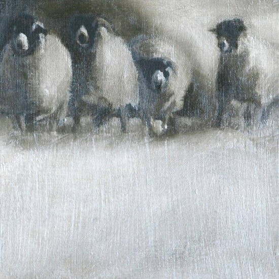 Claudia Pettis, Sheep Run II oil on linen