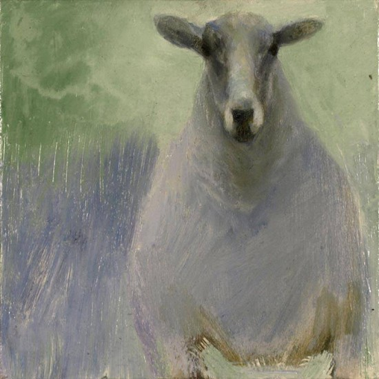 Claudia Pettis, Blue Ewe 2009, oil on linen