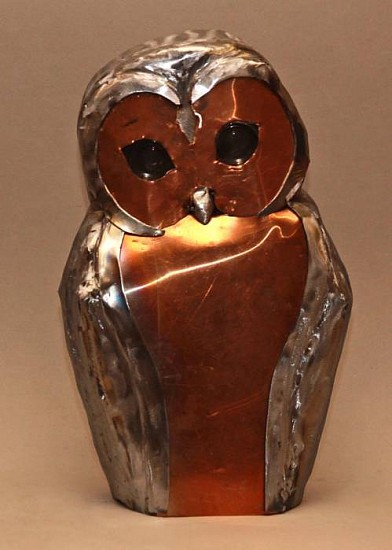 Tyree Riggs, Quiet Owl 2012, copper & steel