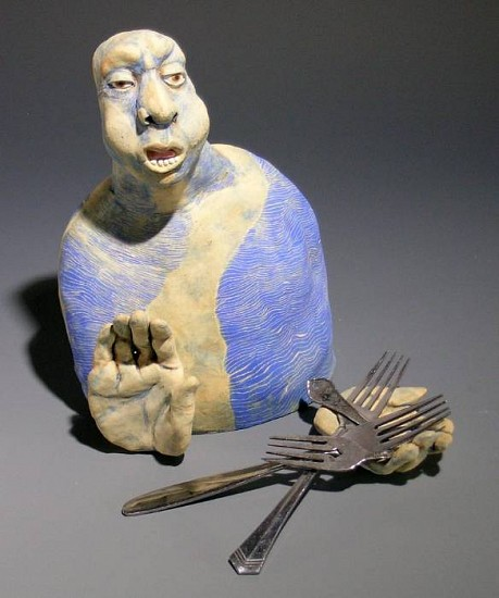 Susan Rooke, Forks in the Road 2005, clay