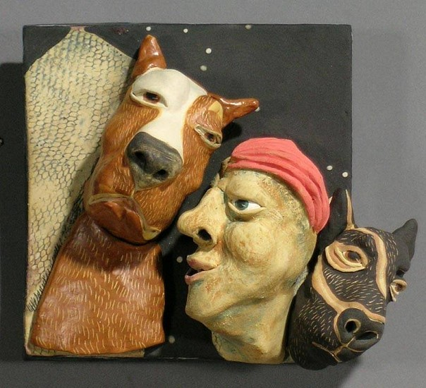 Susan Rooke, Spike, The City Dog 2007, clay with underglazes