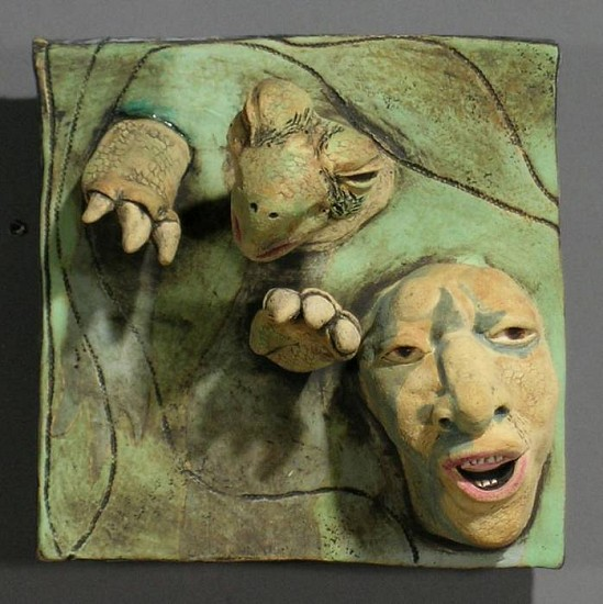 Susan Rooke, The Swimmer 2007, clay with underglazes