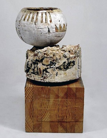 Patricia Sannit, Elements of Nature: Balance 2 2008, clay, wood, oxides