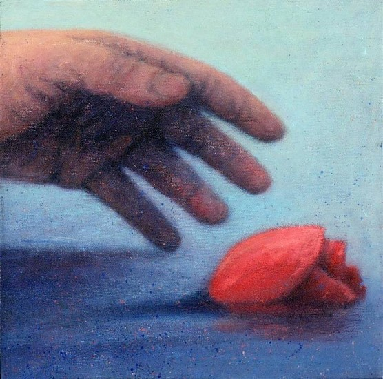 Stephen Schultz, Rose 2010, oil on wood panel