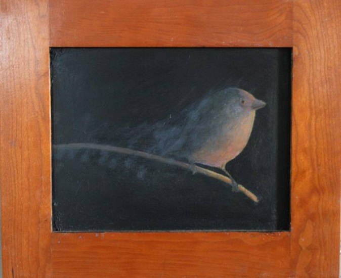 Stephen Schultz, Wrentit 2006, oil on wood panel