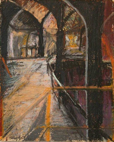 Romey Stuckart, The Armory 1980, oil, pastel on paper