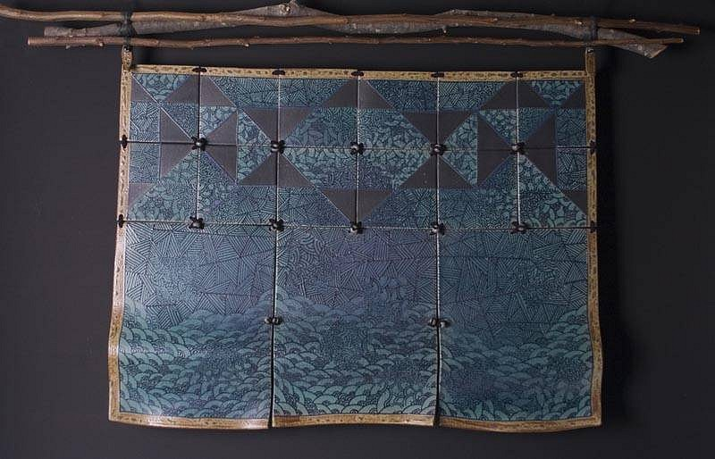Donna Tousley, Blue Wall Hanging 2007, stoneware