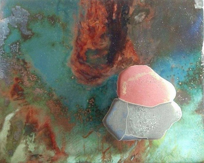 Jean Tudor, Arctic Sentinel # 6 2011, enamel on copper, mixed media