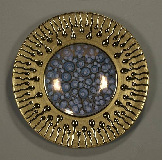 Ken Turner, Fertility Plate 2008, porcelain, 24k gold