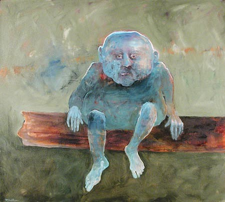 Mel McCuddin, Humpty Dumpty oil on canvas