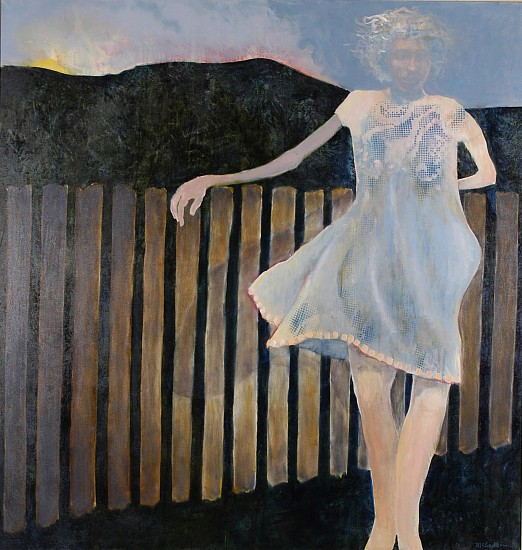 Mel McCuddin, Over the Fence oil on canvas